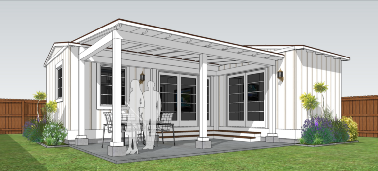 ADU prefab 1 bedroom with patio